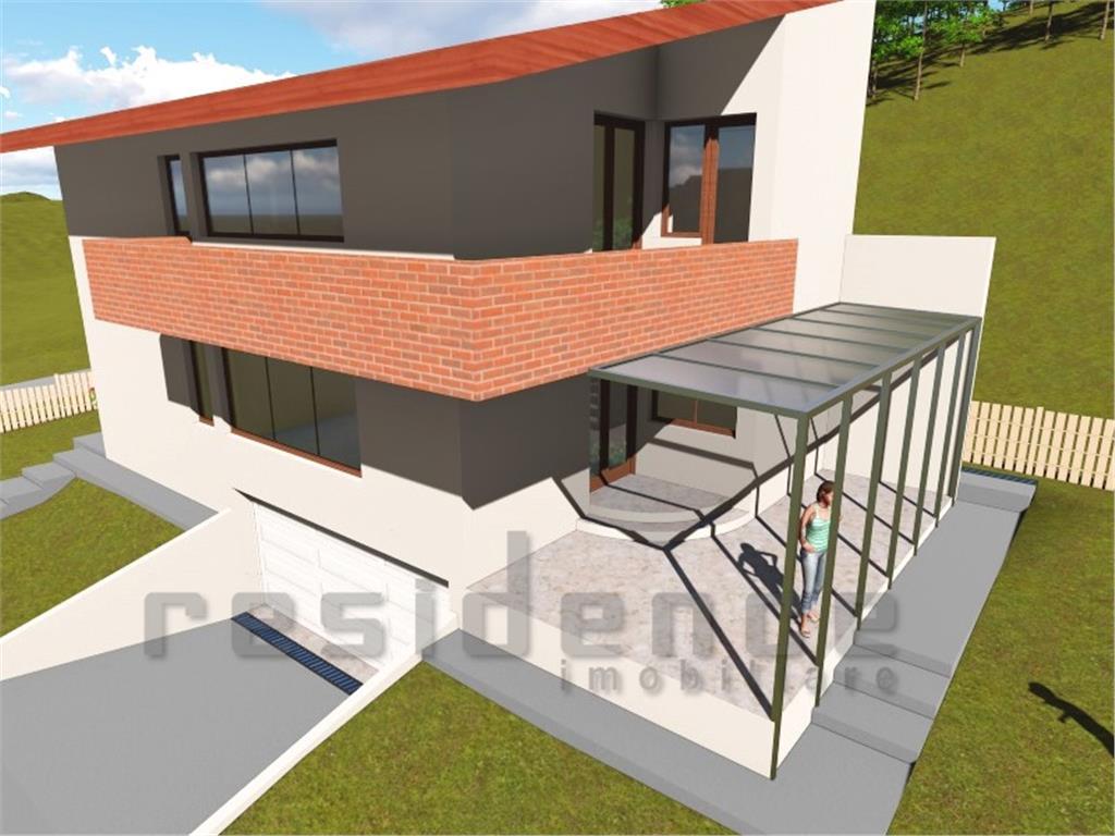 Casa Vila 190mp, 5 camere, Popesti + 2 garaje si curte 420mp
