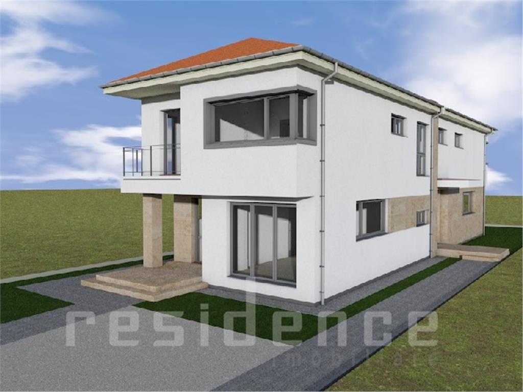 Duplex 4 camere 120mp, 190mp curte + parcare, Sannicoara