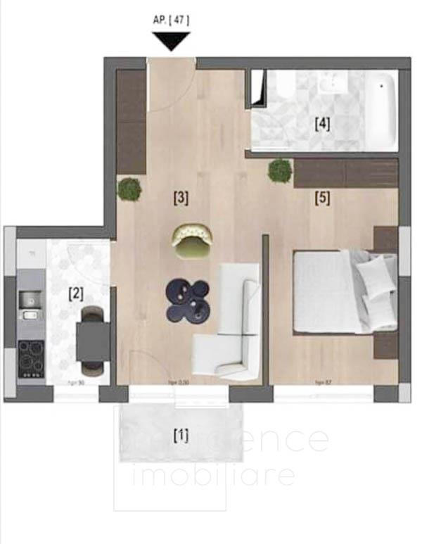 Apartament 2 camere in Marasti, Complex Riverside, Pta 1 Mai